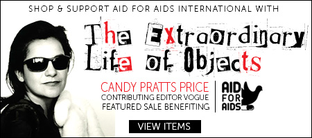Extraordinary Life of Objects collection to benefit AID FOR AIDS