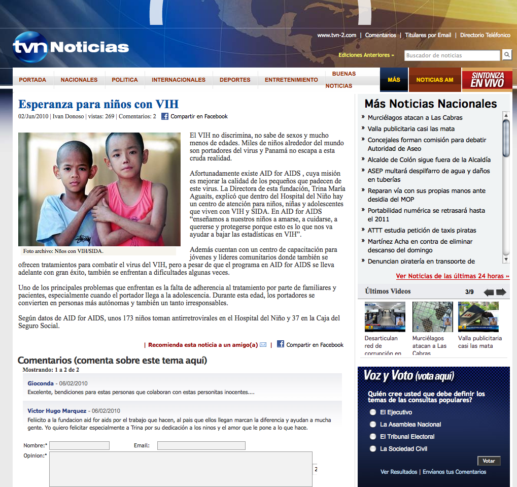 Esperanza para niños con VIH