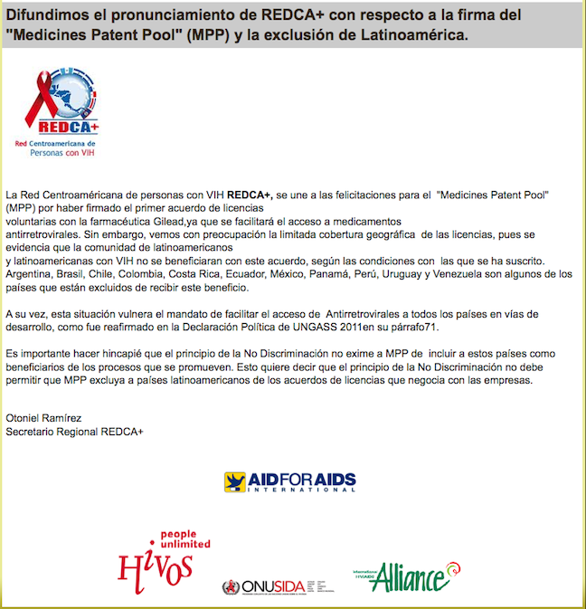 AFAI Shares Statement On The Medicine Patent Pool And The Exlcusion Of Latin America