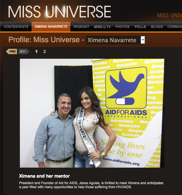 Miss Universe at AID FOR AIDS International