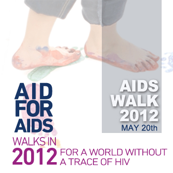 AID FOR AIDS walks in 2012 for a world without a trace of HIV