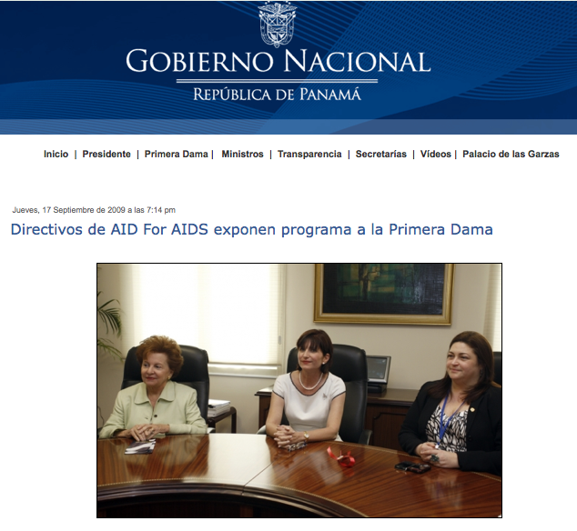 AFAI Panamá presents program to the First Lady