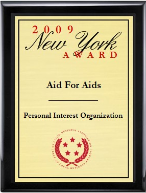 Aid For Aids Receives 2009 New York Award