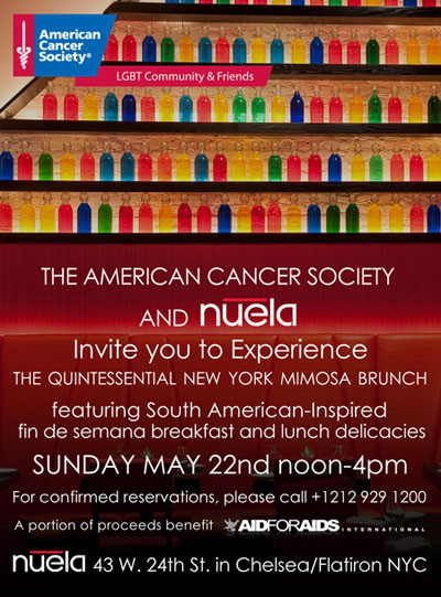 Mark Your Calendars! Nuela Brunch To Benefit AFAI Starts at 12:00 PM This Sunday.